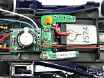 Slotlight 3 Bausatz Größenvergleich, Kabel bereits an die Platine angelötet.