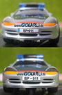 "Carrera GO Porsche GT3 ""Police Car"" Austria 61027 Nummernschildvarianten"