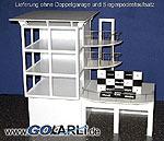 Dreistöckiger Presseturm mit Balkons